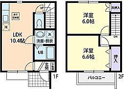 [テラスハウス] 茨城県笠間市吉岡 の賃貸【/】の間取り