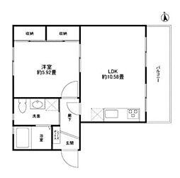 東京都新宿区市谷加賀町2丁目の賃貸アパートの間取り