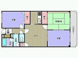 パークレーン[305号室]の間取り