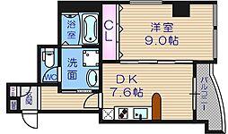 GRAZIONIHONICHI[4階]の間取り