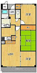 アンジュ東甲子園[9階]の間取り