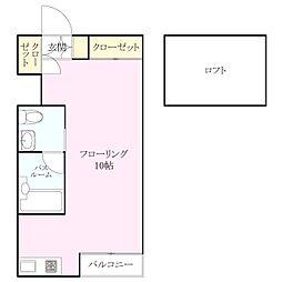 西片江アパートメントB棟[1階]の間取り