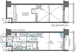 東京都港区芝浦2丁目の賃貸マンションの間取り
