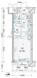 JR大阪環状線 福島駅 徒歩7分の賃貸マンション 2階1Kの間取り