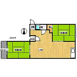 ニュー帝塚山マンション[3階]の間取り