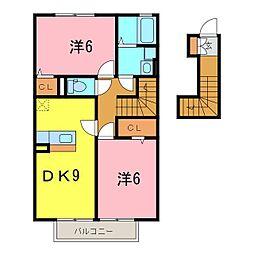 ノーベル[2階]の間取り