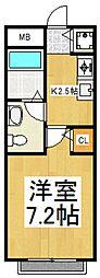 アムハイツ久米川I[2階]の間取り