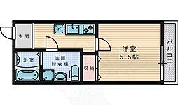 京阪本線 御殿山駅 徒歩7分の賃貸アパート 1階1Kの間取り