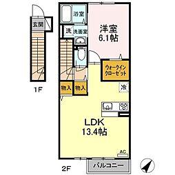 (仮)D−room松江市上東川津町[2階]の間取り