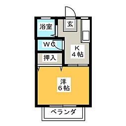 コーポオレンジ[2階]の間取り
