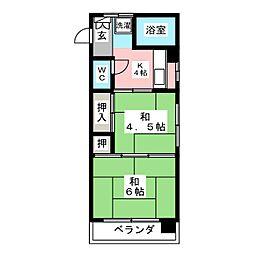 マノアハウス清住[3階]の間取り