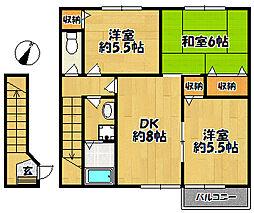 サンフロール神戸北2[2階]の間取り