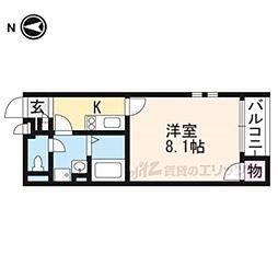阪急京都本線 西山天王山駅 徒歩6分の賃貸アパート 1階1Kの間取り