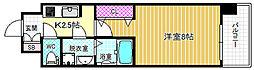 サムティ福島NORTH 2階1Kの間取り