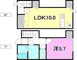 シエスタ南吉田[B2 号室号室]の間取り