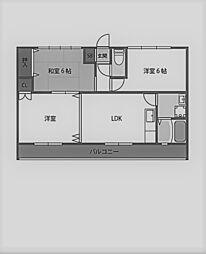 ピンリーブルI[3階]の間取り