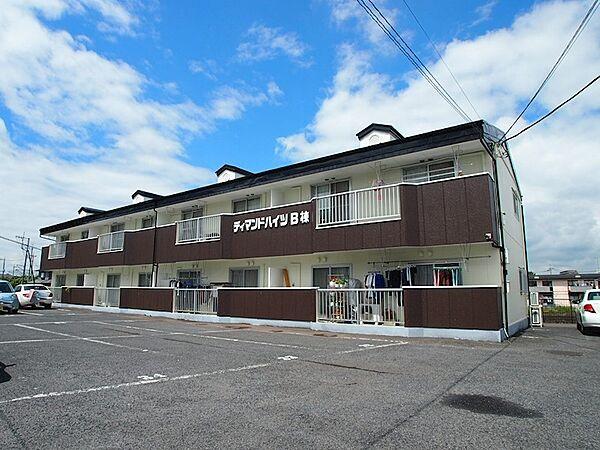 栃木県宇都宮市江曽島町の賃貸アパートの外観