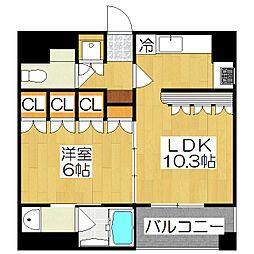 リーガル京都御所東[3階]の間取り
