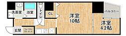 大阪府大阪市中央区内平野町1丁目の賃貸マンションの間取り