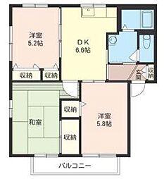 神奈川県横浜市戸塚区原宿3丁目の賃貸アパートの間取り