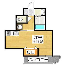 Casa de issa[405号室]の間取り