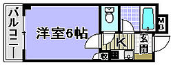 ドミール小松里[207号室]の間取り