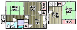 [一戸建] 大阪府和泉市浦田町 の賃貸【/】の間取り