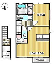 Cielo(シエロ)[B202号室号室]の間取り
