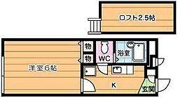 レオパレス足原[1階]の間取り