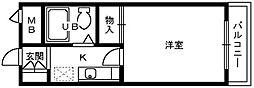 フルレゾン鳳[5階]の間取り