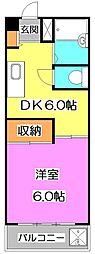 東京都練馬区土支田3丁目の賃貸マンションの間取り