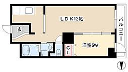 愛知県名古屋市昭和区五軒家町の賃貸マンションの間取り