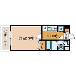 エンクレスト博多駅前[5階]の間取り