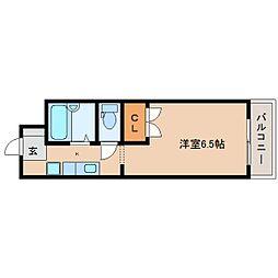 静岡県静岡市清水区有度本町の賃貸アパートの間取り