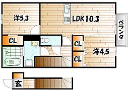 LUPINUS HY A棟[2階]の間取り