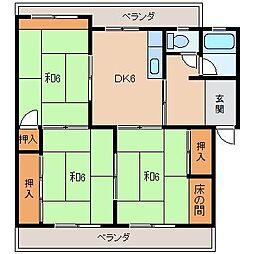 中島コーポ[3階]の間取り