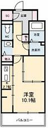 JR高徳線 栗林公園北口駅 徒歩6分の賃貸マンション 6階1Kの間取り