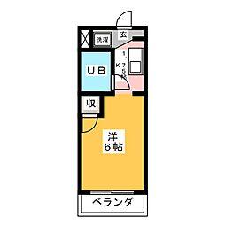 ハイツミヤケ[2階]の間取り