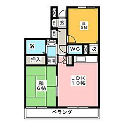 ルシード上飯田[5階]の間取り