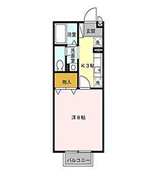 セレーノB[2階]の間取り