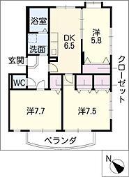 ソレイユ 10[3階]の間取り