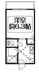 メゾン・ノアール杉田[201号室]の間取り