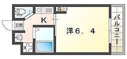 Cottage Dainichi 2階1Kの間取り