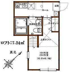 神奈川県横浜市港南区港南1の賃貸アパートの間取り