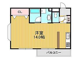 南海高野線 北野田駅 徒歩7分の賃貸マンション 3階ワンルームの間取り