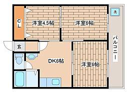 兵庫県神戸市灘区天城通2丁目の賃貸マンションの間取り