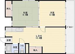 東部マンション[2階]の間取り
