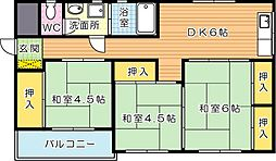 ルポールマンション[2階]の間取り