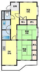 愛知県豊田市大林町16丁目の賃貸マンションの間取り