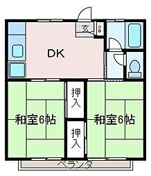 緑風荘[2階]の間取り